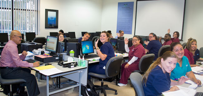 MTI College students in class